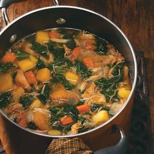 Winter Squash & Greens Soup