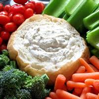 dill dip with veggies