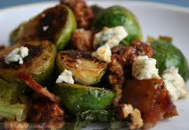 Brussel Sprouts with bacon and feta cheese