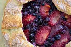 Pluot and blueberry tart.