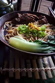 chinese beef roast and noodle