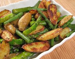 Grilled Potato and Green Beans