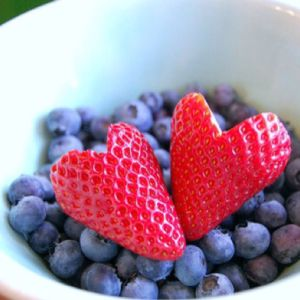 Strawberry-hearts