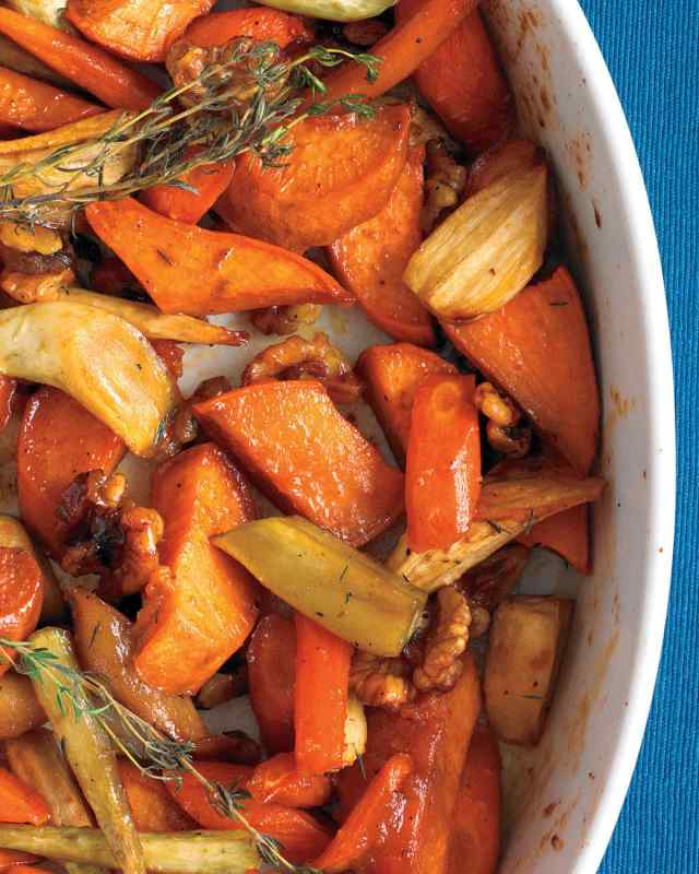 honey walnut root vegetables