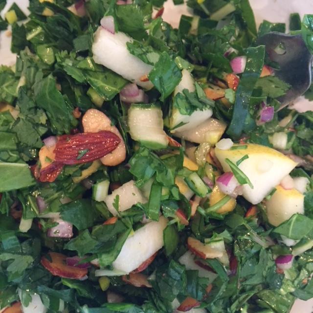 Chard Herb Pear Salad