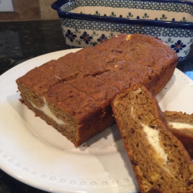 Pumpkin Bread with cream cheese filling.JPG